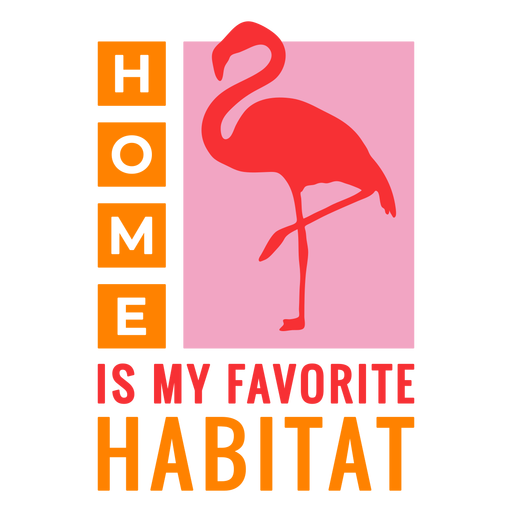 Insignia de flamenco de hábitat casero