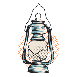Hurricane lantern light illustration
