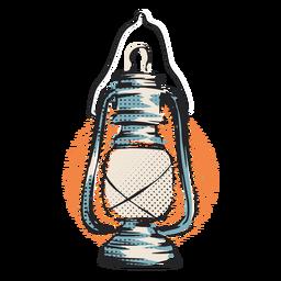 Ilustração de lanterna de furacão