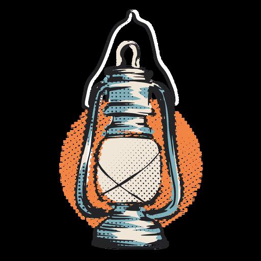 Hurricane lantern light illustration
