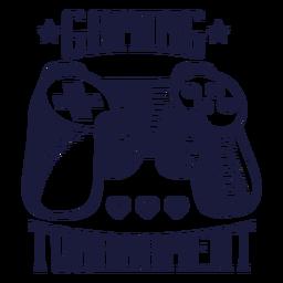 Distintivo de videogame com joystick