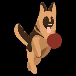 Desenho geométrico de pastor alemão de salto