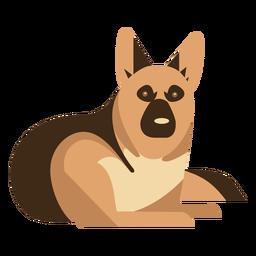 Deitado desenho geométrico de cão pastor alemão