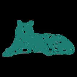 Deitado tigre