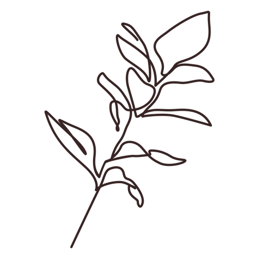 Leafy branch line drawing