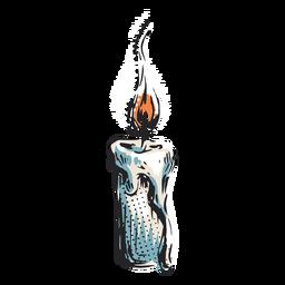 Ilustração do ícone de vela acesa