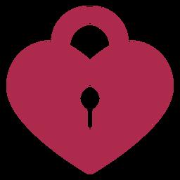 Icono de candado de amor