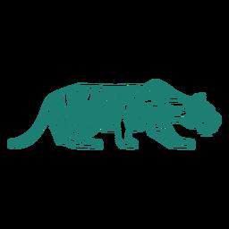 Desenho de tigre à espreita