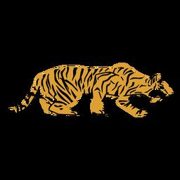 Dibujado a mano tigre al acecho