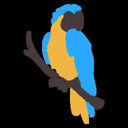 Doodle de pájaro tropical guacamayo