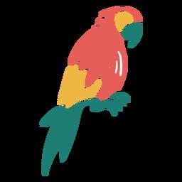 Desenho de doodle de pássaro tropical de arara