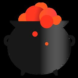 Icono de brujería de caldero mágico