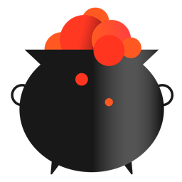 Magical cauldron witchery icon