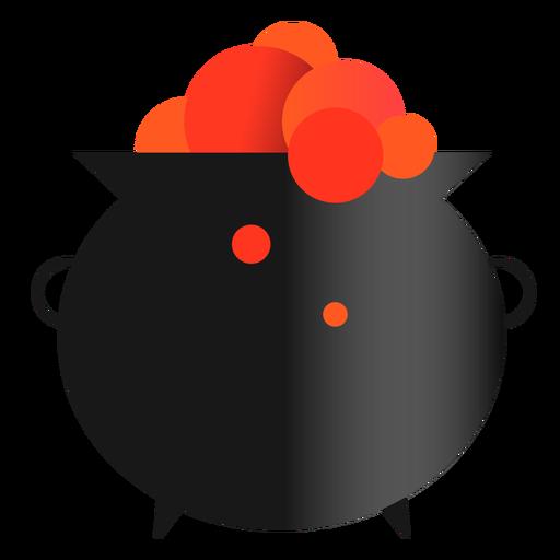 Icono de brujería de caldero mágico Transparent PNG