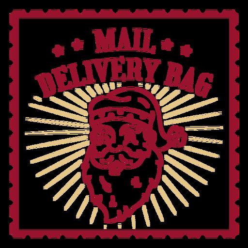 Mail delivery bag santa design