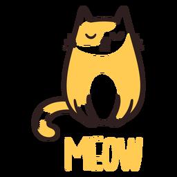 Meow sonolento gato
