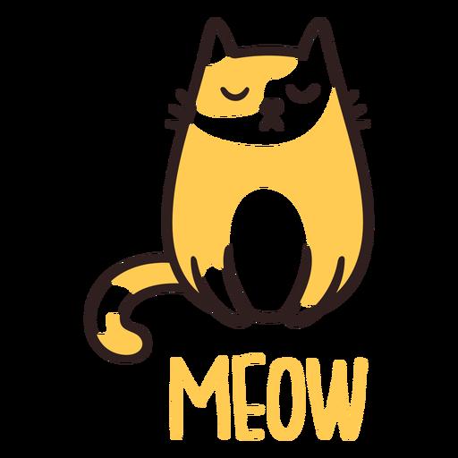 Miau gato soñoliento Transparent PNG