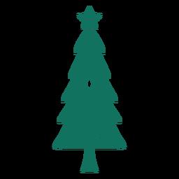 Árvore de saudação de feliz Natal