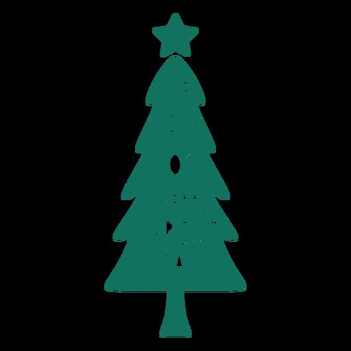 Árvore de saudação de feliz Natal Transparent PNG
