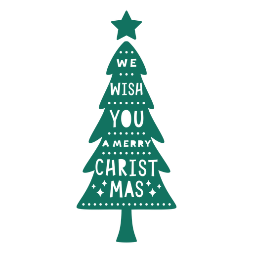 Merry christmas greeting tree Transparent PNG