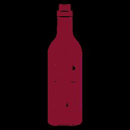 Botella de vino feliz navidad