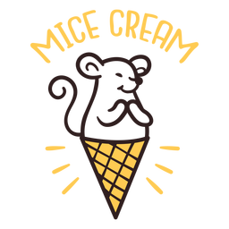 Mice dream ice cream design
