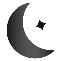 Ícone de lua e estrela à noite