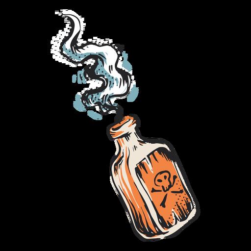 Ilustração de garrafa de veneno mortal