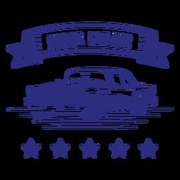 Insignia de coche retro de garaje de motor