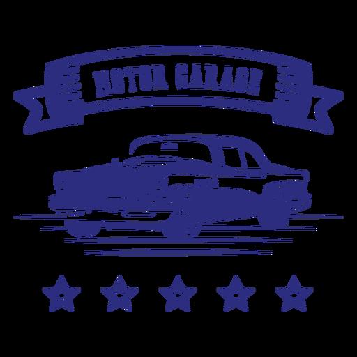 Distintivo de carro retrô de garagem de motor Transparent PNG