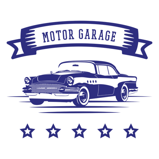 Motor garage retro car badge Transparent PNG