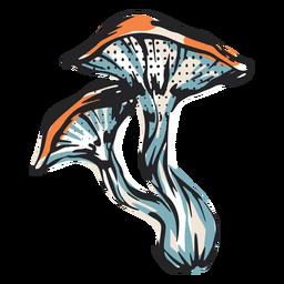 Ilustración de la naturaleza de la seta