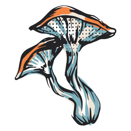Ilustração da natureza do cogumelo