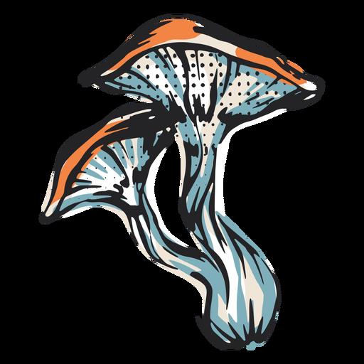 Mushroom nature illustration