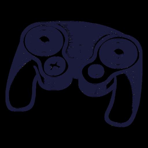 Nintendo controller gaming illustration