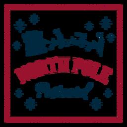 Postal del polo norte santa claus
