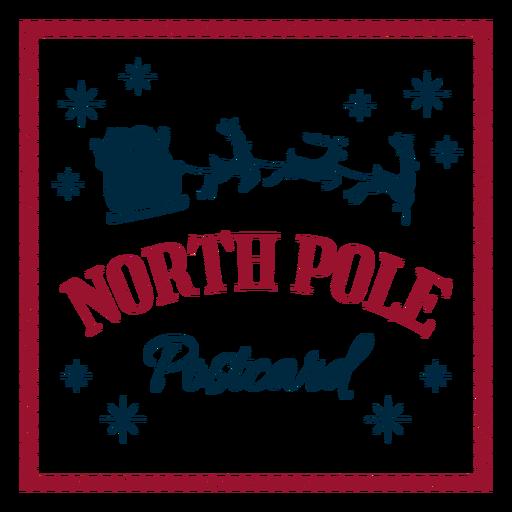 North pole postcard santa claus