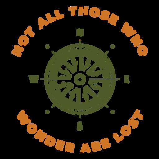 Nicht verlorenes Kompassdesign