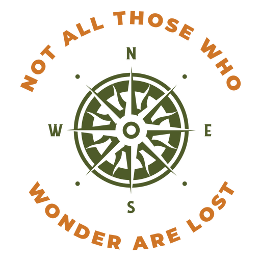 Not lost compass design