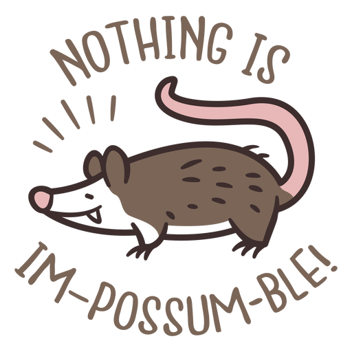 Nothing is impossible possum design