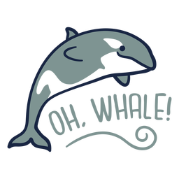 Oh ballena linda plana