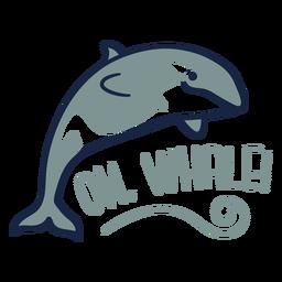 Oh whale cute flat