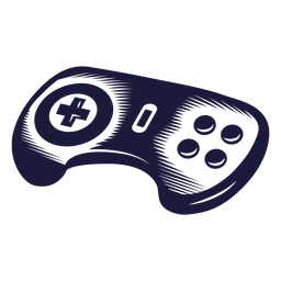 Oldschool console controller illustration