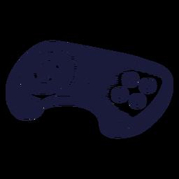 Oldschool console controller illustration