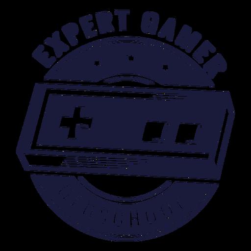 Oldschool gamer illustration