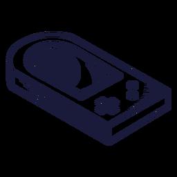 Ilustração de console de jogos oldschool