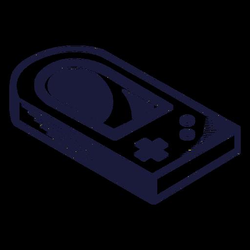 Ilustración de consola de juegos Oldschool Transparent PNG