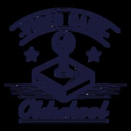 Oldschool Gaming Joystick Abzeichen