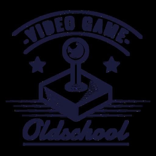 Insignia de joystick de juegos de la vieja escuela