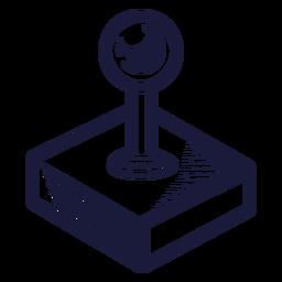 Ilustración de joystick de la vieja escuela